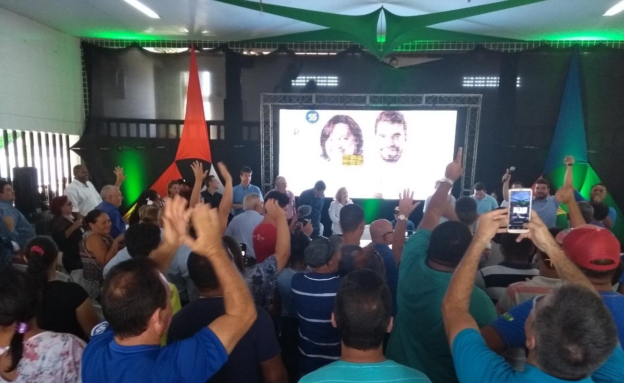 PSD homologa candidatura de Eneide Régis e vereador Janderson para a prefeitura