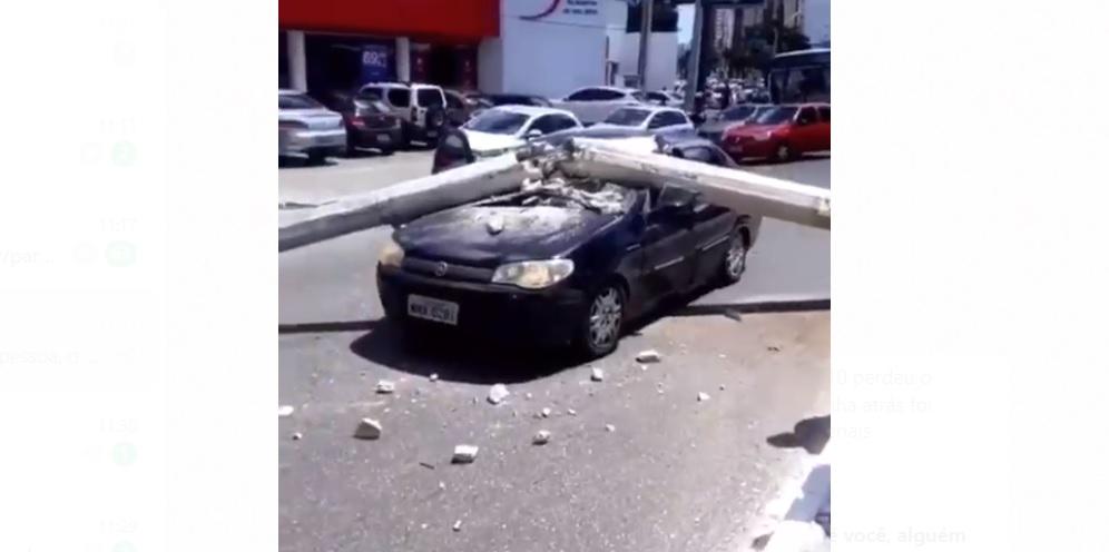Acidentes de trânsito derrubaram mais de 200 postes este ano na Paraíba