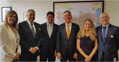 Aguinaldo Ribeiro recebe prefeito paraibano e ABF em Brasília