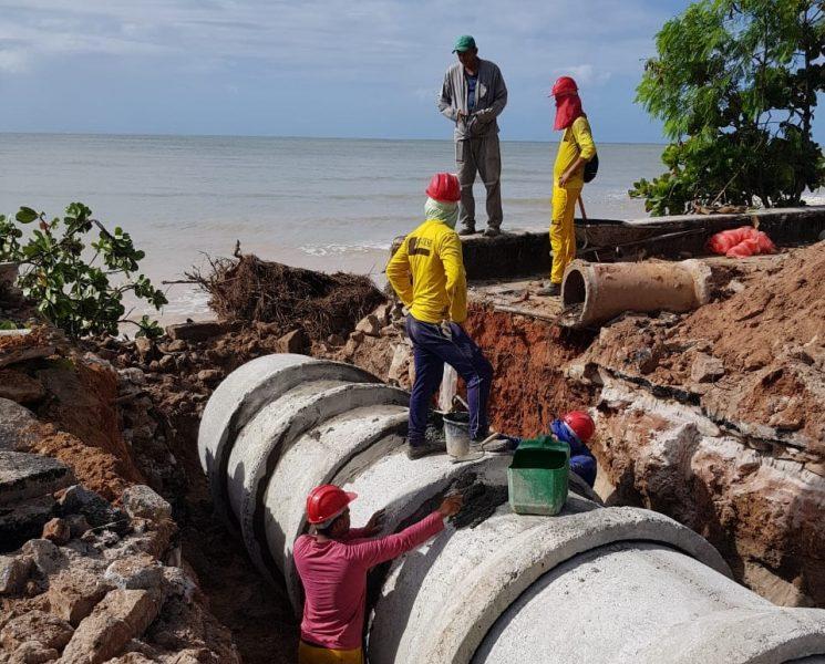 Tribunal de Contas alerta PMJP para medidas de correção nas obras na barreira do Cabo Branco