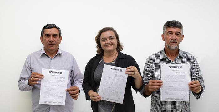 Delegados de Piancó, Santa Luzia e São Bento recebem portarias do Creci-PB