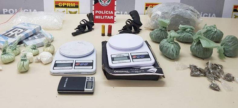 Ação conjunta das Polícias Federal e Militar desarticula ponto de tráfico na Capital