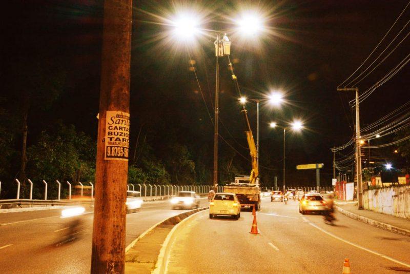 PMJP inicia implantação de LED no corredor da Pedro II e Via Expressa Padre Zé