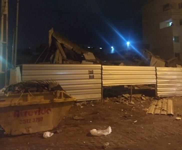 Estrutura de hospital desaba em João Pessoa; não há feridos
