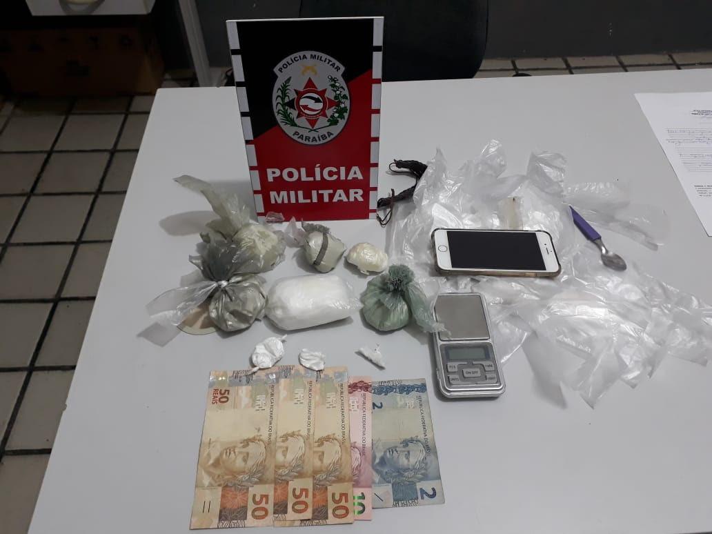Polícia apreende arma, drogas e prende dois suspeitos no Sertão