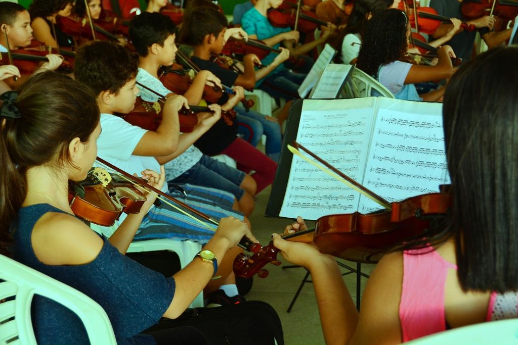 Alunos do Ação Social pela Música abrem concerto da Orquestra Bachiana Filarmônica, em São Paulo