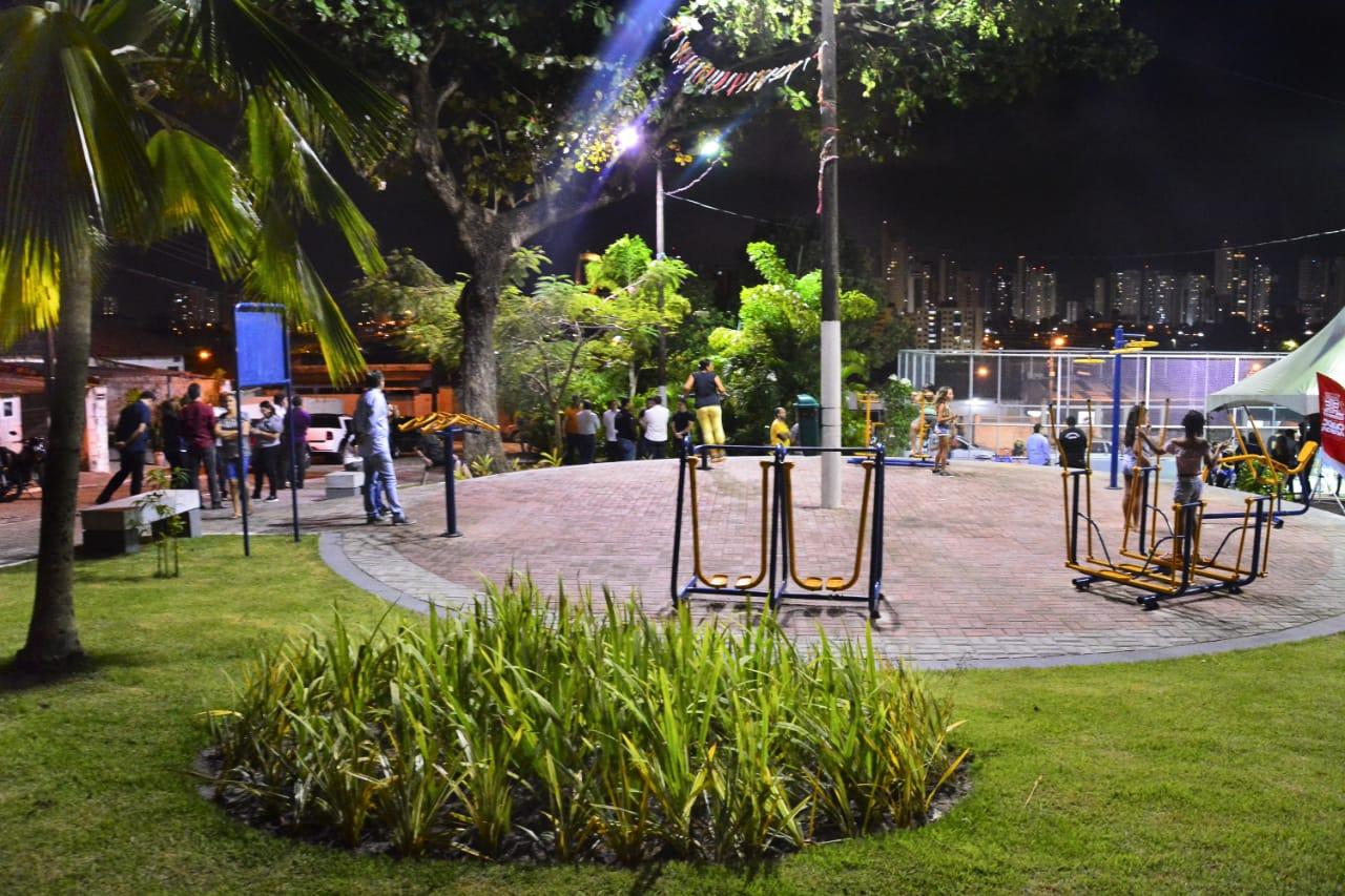 Cartaxo entrega praça no Castelo Branco e gestão chega a 50 equipamentos de lazer na Capital