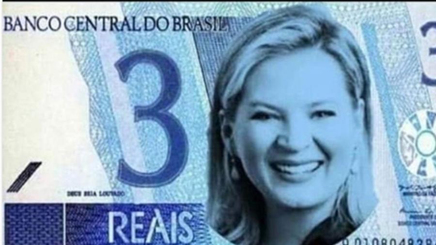 Eduardo Bolsonaro posta foto com rosto de Joice em cédula de R$ 3